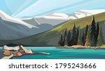 canadian nature scenery....   Shutterstock .eps vector #1795243666