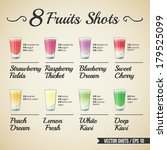 fresh fruit shots set | Shutterstock .eps vector #179525099