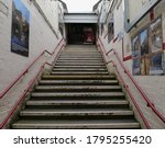 Wide Train Station Staircase...