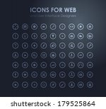 set of icons for web and user... | Shutterstock .eps vector #179525864