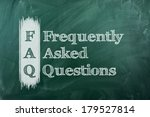 frequently asked question  faq  ... | Shutterstock . vector #179527814