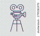 video camera icon isolated on...