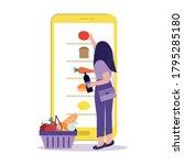 online grocery store  shopping... | Shutterstock .eps vector #1795285180