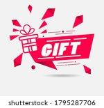 modern gift web element for... | Shutterstock .eps vector #1795287706