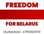 inscription freedom for belarus.... | Shutterstock .eps vector #1795303570