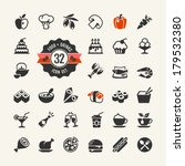 Food and drink web icon set