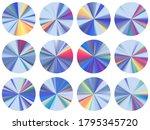 circle metallic gradient disk...