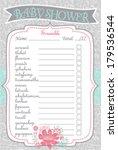 baby shower scramble game...   Shutterstock .eps vector #179536544