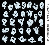 ghost set. spooky halloween... | Shutterstock .eps vector #1795369543