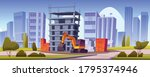 construction site with... | Shutterstock .eps vector #1795374946