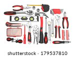 Many tools isolated on white...