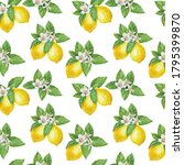 Lemon  Watercolor Pattern ...