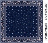 bandana print. vector seamless... | Shutterstock .eps vector #1795405609