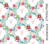 seamless pattern with flowers ... | Shutterstock .eps vector #1795417930