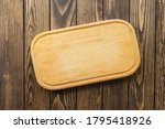 Wooden Cutting Board On A...