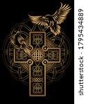 odin's celtic raven.... | Shutterstock .eps vector #1795434889
