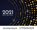 2021 happy new year of gold...   Shutterstock .eps vector #1795454329