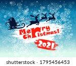 santa claus. blue background...   Shutterstock .eps vector #1795456453