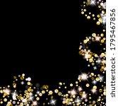 gold glitter stars. luxury...   Shutterstock .eps vector #1795467856