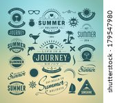summer design elements and... | Shutterstock .eps vector #179547980