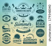 summer design elements and... | Shutterstock .eps vector #179548040