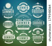 summer design elements and... | Shutterstock .eps vector #179548064