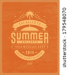 summer vector typography.... | Shutterstock .eps vector #179548070