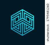tech cube logo design template. ...   Shutterstock .eps vector #1795481260