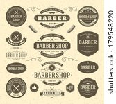 barber shop vintage retro... | Shutterstock .eps vector #179548220