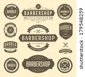 barber shop vintage retro... | Shutterstock .eps vector #179548259
