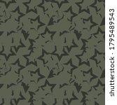 green stars brush stroke... | Shutterstock .eps vector #1795489543