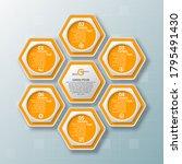 vector abstract 3d paper...   Shutterstock .eps vector #1795491430