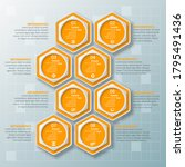 vector abstract 3d paper...   Shutterstock .eps vector #1795491436