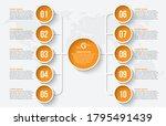 vector abstract 3d paper...   Shutterstock .eps vector #1795491439
