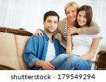 portrait of happy family of... | Shutterstock . vector #179549294