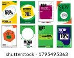 social media pack template for...   Shutterstock .eps vector #1795495363