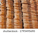 Stack Of Red Roof Tiles For A...