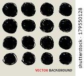 grunge circle background chalk... | Shutterstock .eps vector #179550128