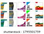 social media pack template for...   Shutterstock .eps vector #1795501759