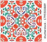 antique ornate tiles talavera...   Shutterstock .eps vector #1795503889