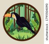 wild toucan bird animal in the...   Shutterstock .eps vector #1795504090
