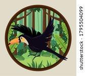 wild toucan bird flying in the...   Shutterstock .eps vector #1795504099