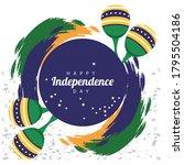 brazil happy independece day...   Shutterstock .eps vector #1795504186