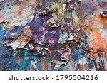 Peeling Graffiti And Urban Decay