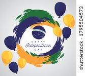 brazil happy independece day...   Shutterstock .eps vector #1795504573