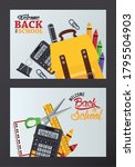 back to school poster with set...   Shutterstock .eps vector #1795504903