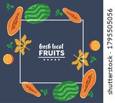 fresh local fruits with...   Shutterstock .eps vector #1795505056