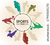 sports time poster with...   Shutterstock .eps vector #1795505170