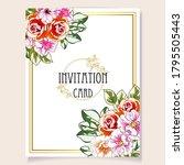 vintage delicate greeting...   Shutterstock .eps vector #1795505443