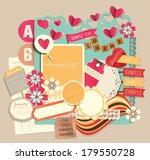 vintage decorative design... | Shutterstock .eps vector #179550728